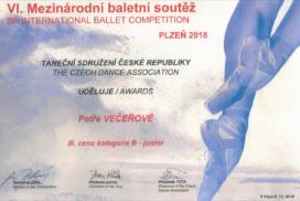 Mezinárodní baletní soutěž Plzeň 2018